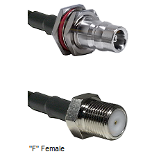 QN Female Bulkhead Connector On LMR-240UF UltraFlex To F Female Connector Cable Assembly