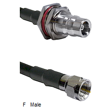 QN Female Bulkhead Connector On LMR-240UF UltraFlex To F Male Connector Cable Assembly
