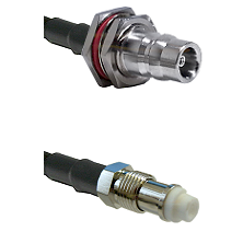 QN Female Bulkhead Connector On LMR-240UF UltraFlex To FME Female Connector Cable Assembly