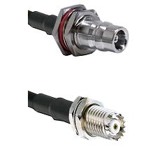 QN Female Bulkhead Connector On LMR-240UF UltraFlex To Mini-UHF Female Bulkhead Connector Coaxial Ca