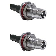 QN Female Bulkhead Connector On LMR-240UF UltraFlex To QN Female Bulkhead Connector Coaxial Cable As