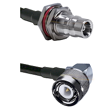 QN Female Bulkhead Connector On LMR-240UF UltraFlex To C Right Angle Male Connector Coaxial Cable As