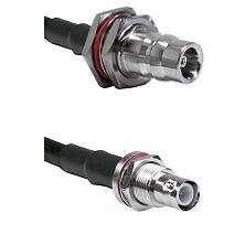 QN Female Bulkhead Connector On LMR-240UF UltraFlex To BNC Reverse Polarity Female Bulkhead Connecto