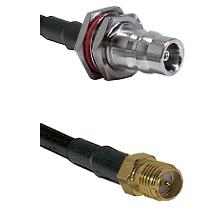 QN Female Bulkhead Connector On LMR-240UF UltraFlex To SMA Reverse Polarity Female Connector Coaxial
