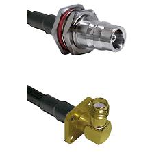 QN Female Bulkhead Connector On LMR-240UF UltraFlex To SMA 4 Hole Right Angle Female Connector Coaxi