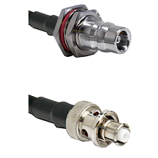 QN Female Bulkhead Connector On LMR-240UF UltraFlex To SHV Plug Connector Cable Assembly