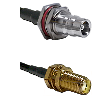 QN Female Bulkhead Connector On LMR-240UF UltraFlex To SMA Female Bulkhead Connector Coaxial Cable A
