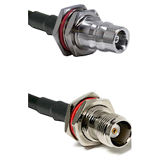 QN Female Bulkhead Connector On LMR-240UF UltraFlex To TNC Female Bulkhead Connector Coaxial Cable A