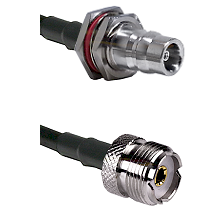 QN Female Bulkhead Connector On LMR-240UF UltraFlex To UHF Female Connector Cable Assembly