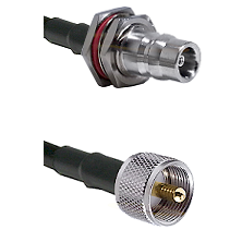 QN Female Bulkhead Connector On LMR-240UF UltraFlex To UHF Male Connector Cable Assembly