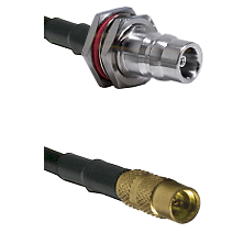 QN Female Bulkhead on RG188 to MMCX Female Cable Assembly