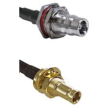 QN Female Bulkhead on RG58C/U to 10/23 Female Bulkhead Cable Assembly