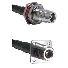 QN Female Bulkhead on RG58C/U to N 4 Hole Female Cable Assembly