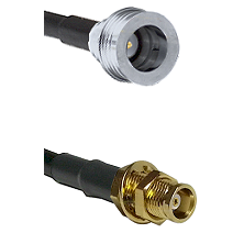 QN Male on LMR100 to MCX Female Bulkhead Cable Assembly