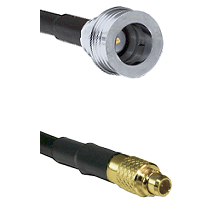 QN Male on LMR100 to MMCX Male Cable Assembly