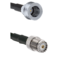 QN Male on LMR100 to Mini-UHF Female Cable Assembly