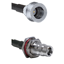 QN Male on LMR100/U to QN Female Bulkhead Cable Assembly