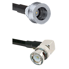 QN Male on LMR100 to BNC Right Angle Male Cable Assembly