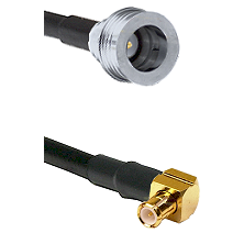 QN Male on LMR-195-UF UltraFlex to MCX Right Angle Male Cable Assembly