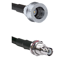 QN Male on LMR-195-UF UltraFlex to BNC Reverse Polarity Female Bulkhead Cable Assembly