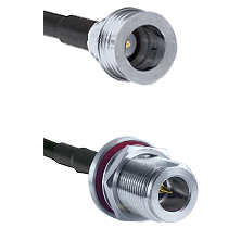 QN Male on LMR-195-UF UltraFlex to N Reverse Polarity Female Bulkhead Cable Assembly