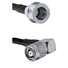 QN Male on LMR-195-UF UltraFlex to TNC Reverse Polarity Right Angle Male Cable Assembly