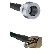 QN Male on LMR-195-UF UltraFlex to SMC Right Angle Male Cable Assembly