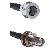 QN Male on LMR-195-UF UltraFlex to SHV Bulkhead Jack Cable Assembly