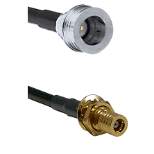 QN Male on LMR-195-UF UltraFlex to SLB Female Bulkhead Cable Assembly