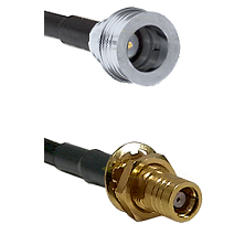 QN Male on LMR-195-UF UltraFlex to SMB Female Bulkhead Cable Assembly