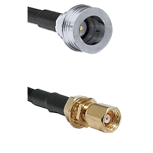 QN Male on LMR-195-UF UltraFlex to SMC Female Bulkhead Cable Assembly