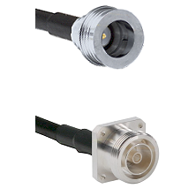 QN Male Connector On LMR-240UF UltraFlex To 7/16 4 Hole Female Connector Cable Assembly