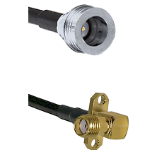 QN Male Connector On LMR-240UF UltraFlex To SMA 2 Hole Right Angle Female Connector Coaxial Cable As