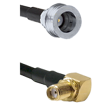 QN Male Connector On LMR-240UF UltraFlex To SMA Right Angle Female Bulkhead Connector Coaxial Cable