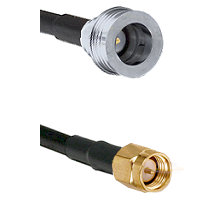 QN Male Connector On LMR-240UF UltraFlex To SMA Reverse Thread Male Connector Cable Assembly