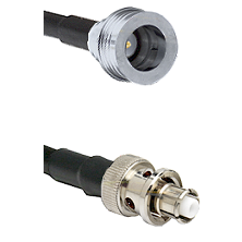 QN Male Connector On LMR-240UF UltraFlex To SHV Plug Connector Cable Assembly