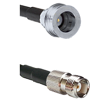 QN Male Connector On LMR-240UF UltraFlex To TNC Female Connector Cable Assembly