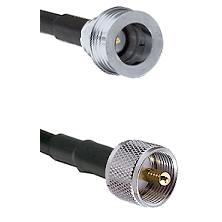QN Male Connector On LMR-240UF UltraFlex To UHF Male Connector Cable Assembly
