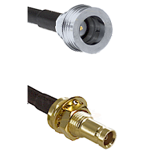 QN Male on RG142 to 10/23 Female Bulkhead Cable Assembly