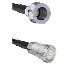 QN Male on RG142 to 7/16 Din Female Cable Assembly