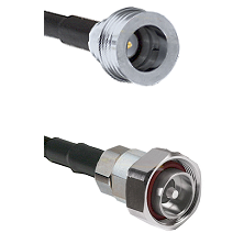 QN Male on RG142 to 7/16 Din Male Cable Assembly