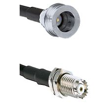 QN Male on RG142 to Mini-UHF Female Cable Assembly