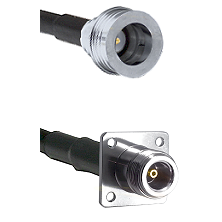 QN Male on RG142 to N 4 Hole Female Cable Assembly