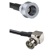 QN Male on RG316DS Double Shielded to BNC Reverse Polarity Right Angle Male Cable Assembly