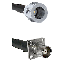 QN Male on RG58C/U to C 4 Hole Female Cable Assembly