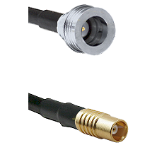 QN Male on RG58C/U to MCX Female Cable Assembly