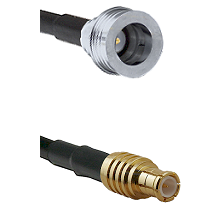 QN Male on RG58C/U to MCX Male Cable Assembly