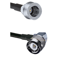 QN Male on RG58C/U to C Right Angle Male Cable Assembly