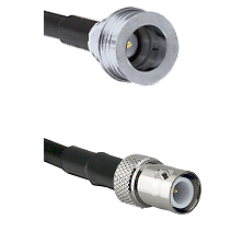 QN Male on RG58C/U to BNC Reverse Polarity Female Cable Assembly