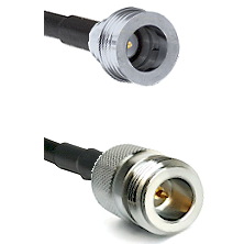 QN Male on RG58C/U to N Reverse Polarity Female Cable Assembly